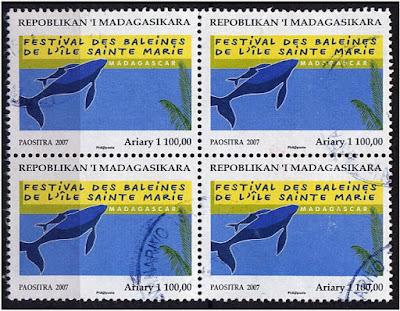 Timbre festival des baleines Sainte-Marie Madagascar