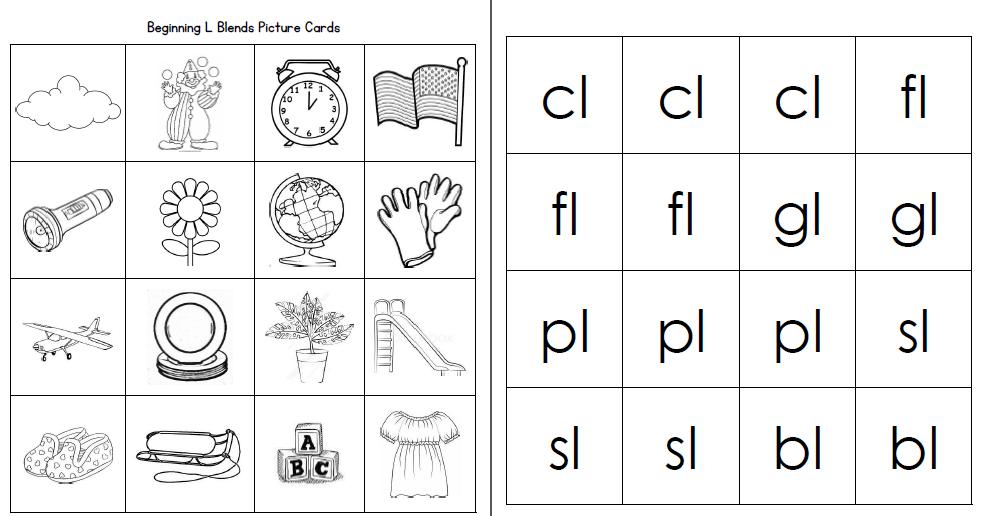 L Blends Worksheets Pack by Miss Giraffe | Teachers Pay Teachers