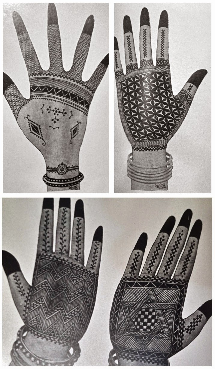 Mehndi Patterns History : Eshkol hakofer no paisleys a history of indian henna designs