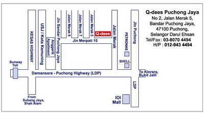 Q-dees Puchong Jaya Location Map