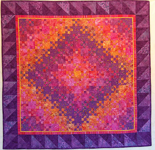 Quilt Inspiration: Blooming nine-patch: a perennial favorite