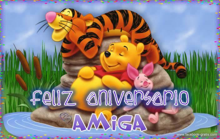 Feliz aniversario amiga
