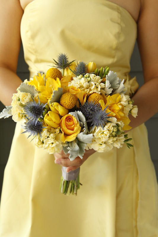 Absolutely Beautiful Wedding Bouquet: Lovely yellow and ...