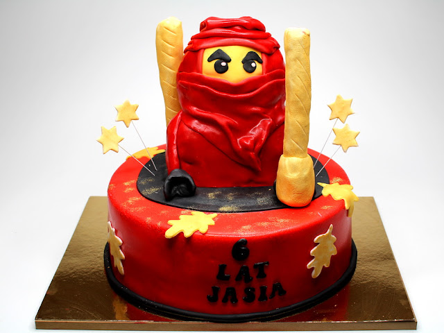 Red Ninjago Birthday Cake