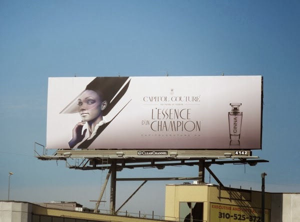 Hunger Games Capitol Couture mock fragrance billboard