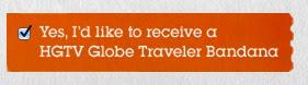 Free HGTV Globe Traveler Bandana