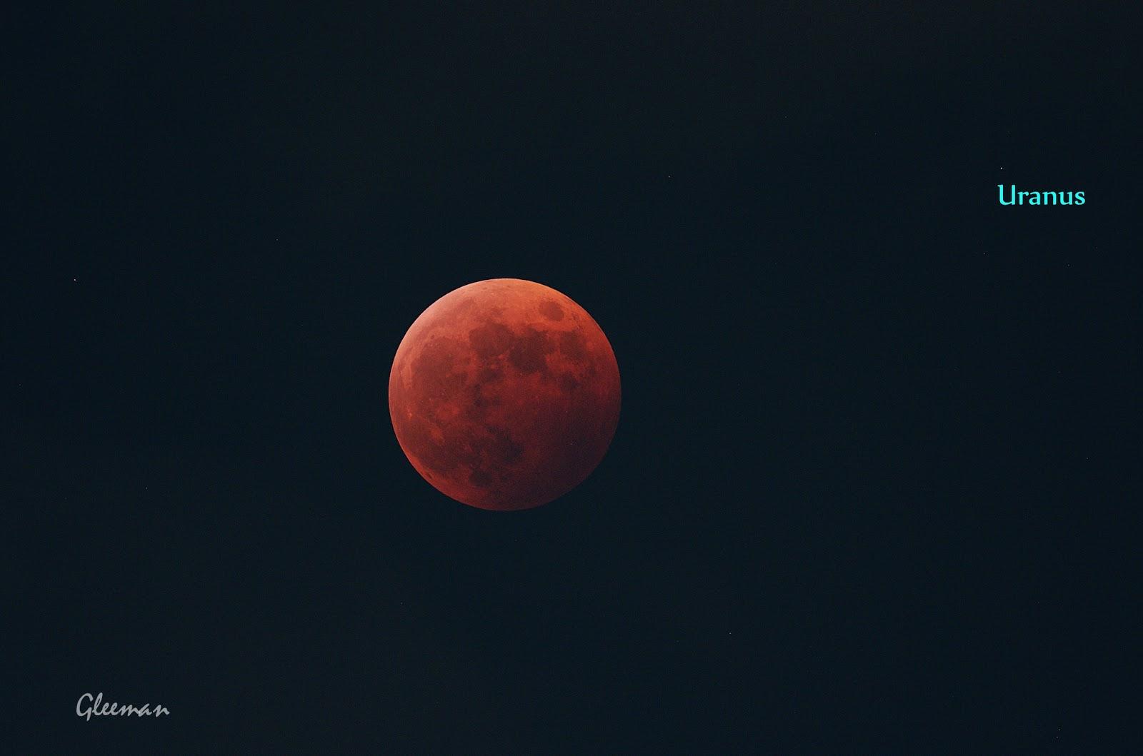 月全食與天王星衝   Total lunar eclipse and Uranus opposition