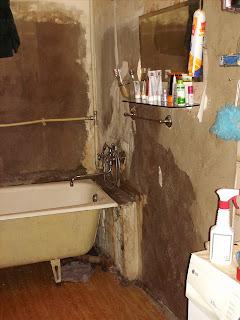 Ванная комната без отделки стен