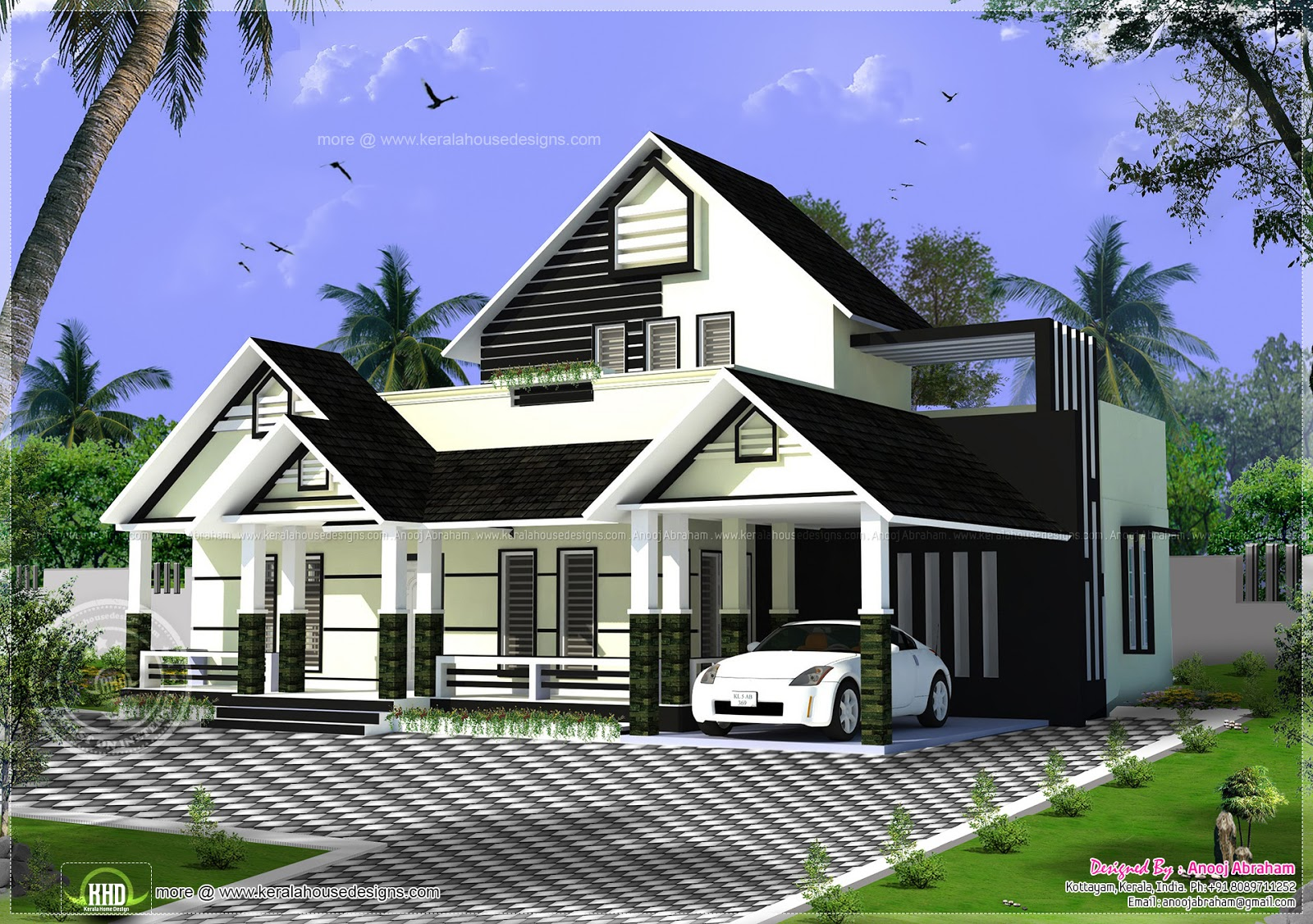 One floor house with a stair room home kerala plans for One floor house photos