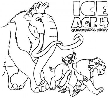 ice age 4 coloring pages Free Coloring Pages Printables for Kids