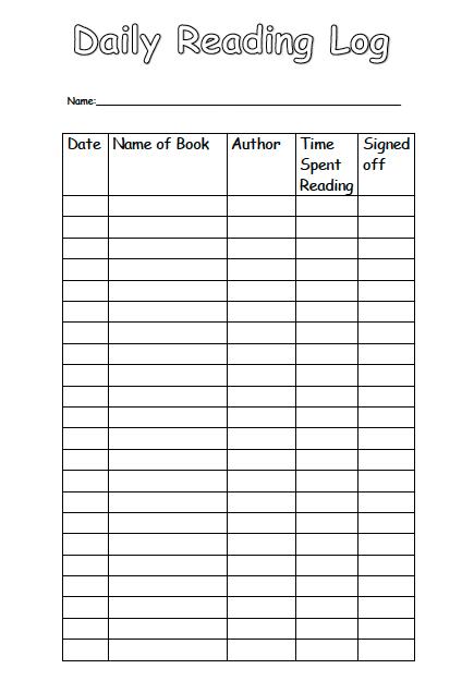 Homework daily log