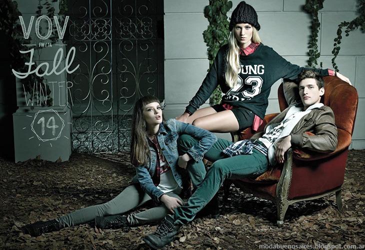 Vov Jeans invierno 2014. Moda en ropa de mujer.