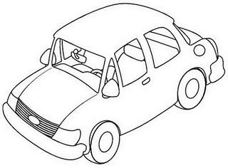 Dibujo De Auto Para Colorear