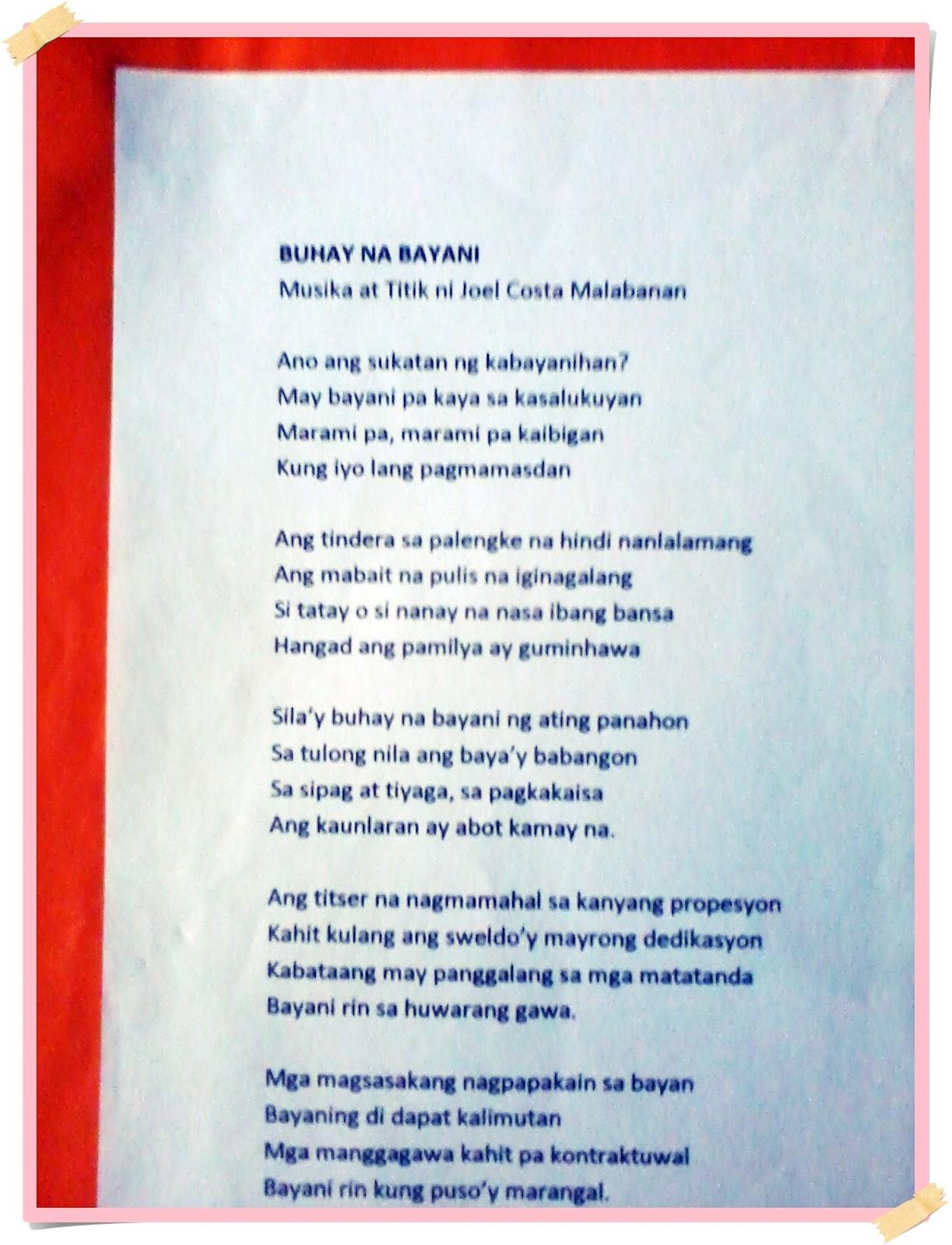 mga tula tungkol sa bayani Ipinadala po sa bayanicom ang mga tulang ito  ang mga tula po ay nilikha ng  mga mag-aaral sa ika-6 na baitang at ang sanaysay po ay nilikha ng ika-4 at.