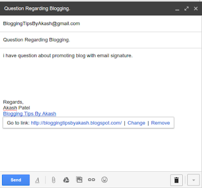 Promote a blog with email signature