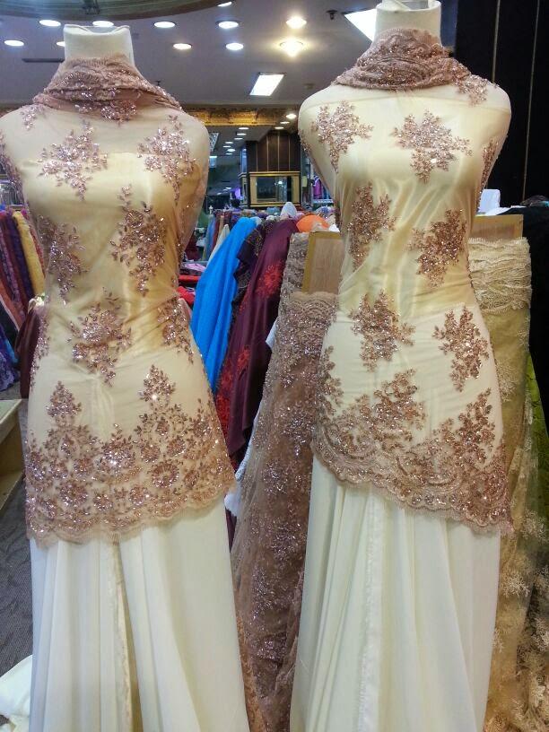 Bandung kain nikah lace chiffon satin silk etc Baju gamis pasar baru bandung