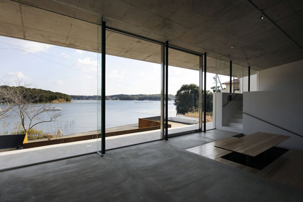 Japan Beach House Design: Contemporary Concrete | luxury house ...