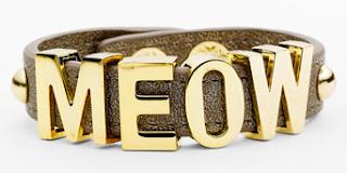 BCBGeneration 'Affirmation' Faux Leather Bracelet Meow