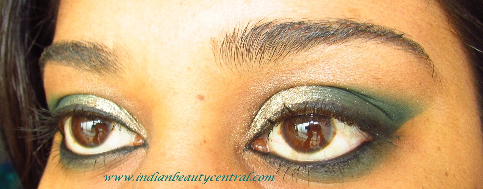 Indian Beauty Central Festive Eye Makeup Look Smokey Teal
