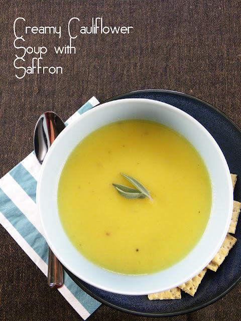 Creamy Cauliflower Soup with Saffron | sweetpeasandsaffron.com