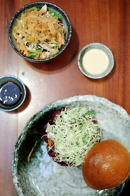 Yabu's Ebi and Hire Katsu Burgers