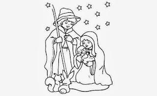 desenho de presepio de natal para pintar