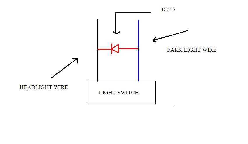 automatic headlight project auto electrics electronics rh pnelectrics blogspot com Sealed Beam Headlight Wiring Diagram Chevy Headlight Wiring Diagram