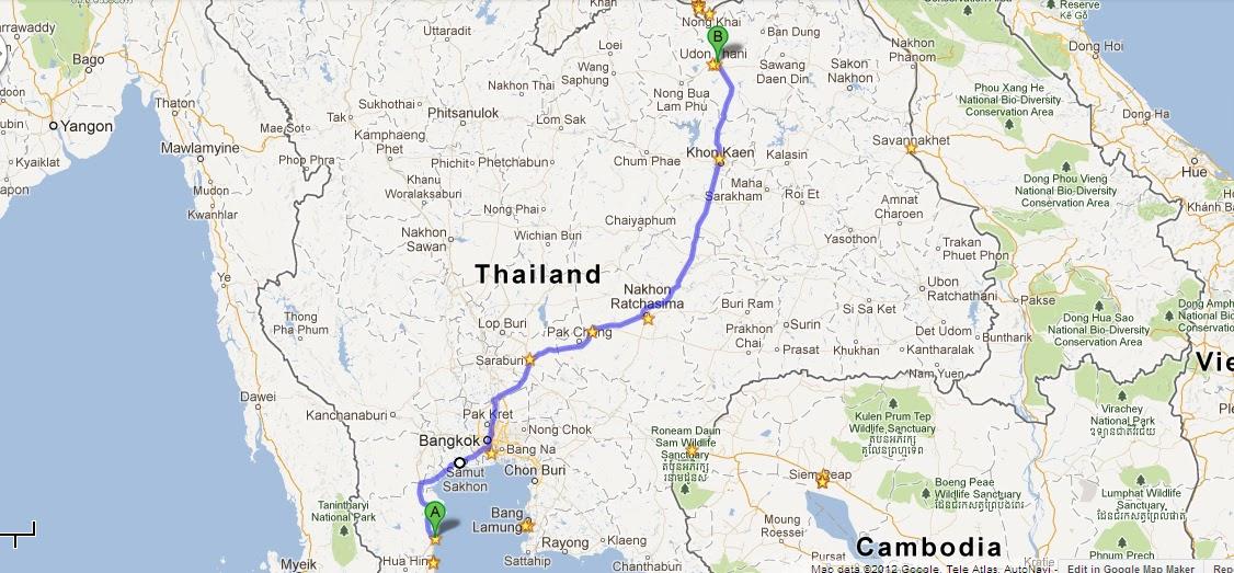 Day 3 201012 Chaam to Udon Thani myfarouk