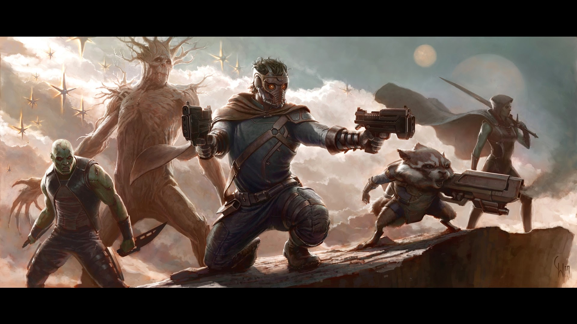 guardian of the galaxy 2014 movie concept art hd wallpaper