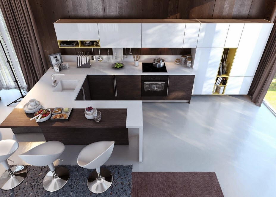Kitchen with contrast design