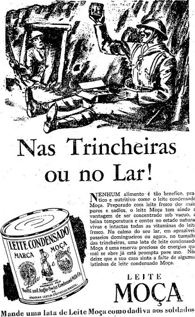 Propaganda do Leite Moça (leite condensado) durante a revolução constitucionalista em 1932