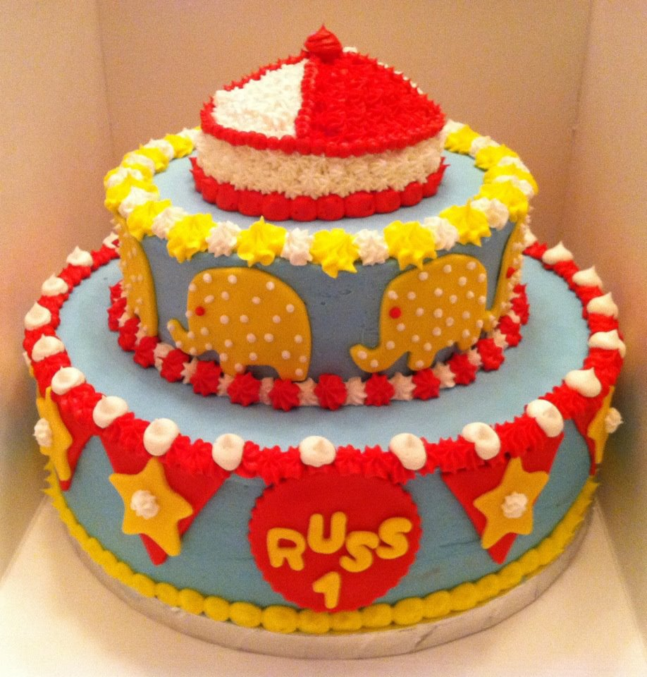 Sweet Treats by Susan Circus Cake and Smash Cake