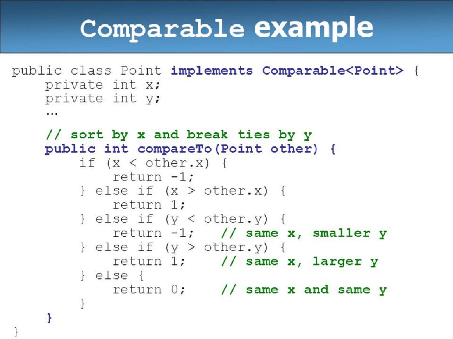 Java Compareto Exle 28 Images Java Long Compare Long X Long Y