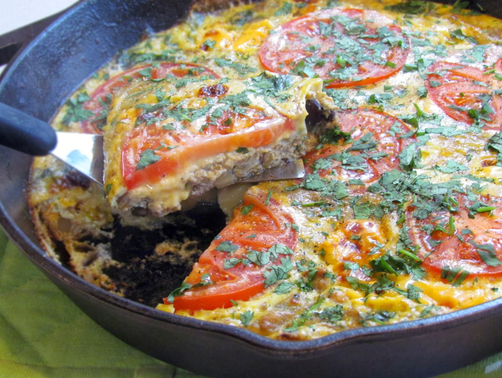 Turn heat off and gently stir in eggs. Top with cheese chunks and ...