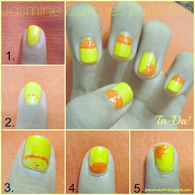 Orange Summer Nail Tutorial