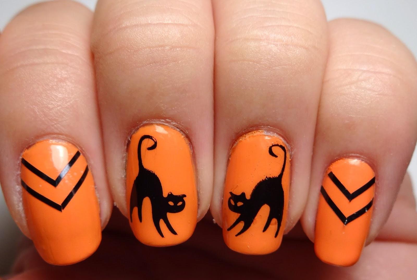 Black Chevron Nails