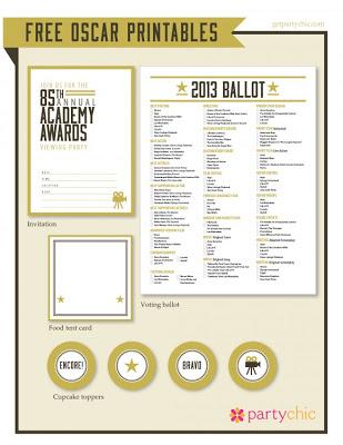 Academy Awards Printable Ballot   Academy Awards Picture