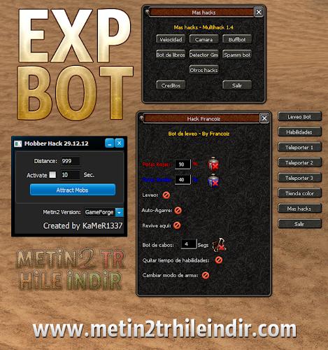 Metin2 TR Yeni EXP Bot 7x Damage Hack ve Çekme Hilesi