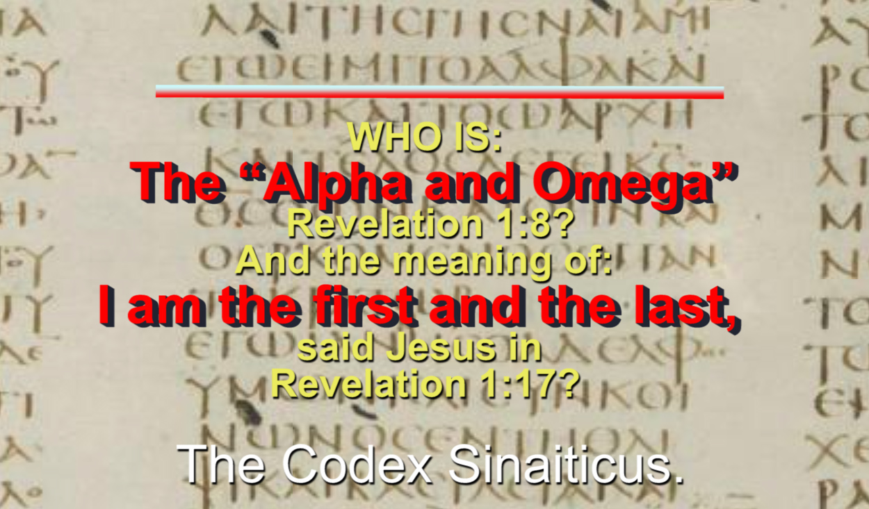 "WHO IS: The ""Alpha and Omega"" Revelation 1:8?"