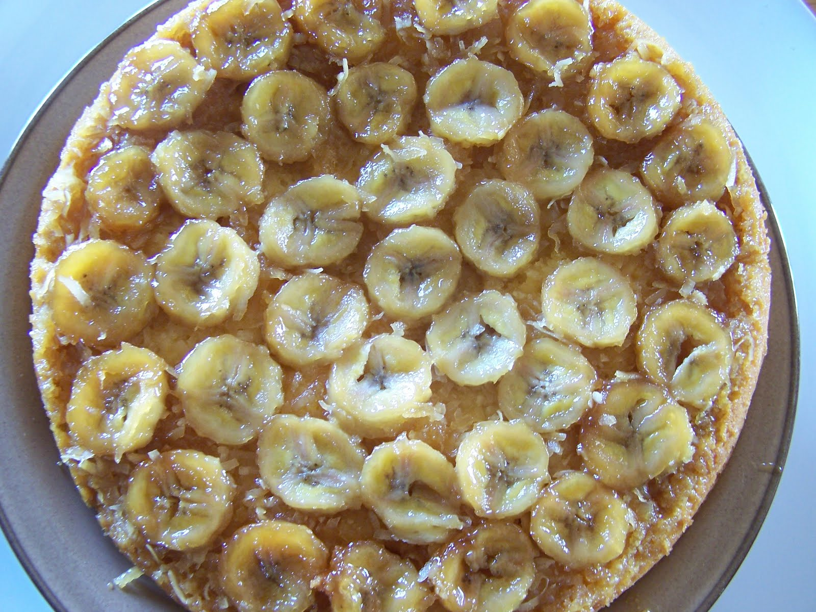 Dutch Oven Madness!: Banana Coconut Upside Down Cake
