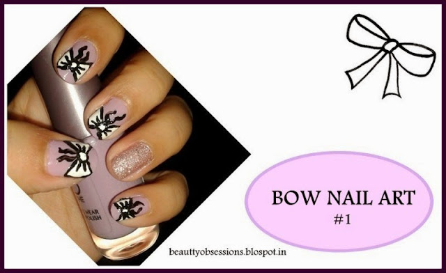 Bow NailArt... #1