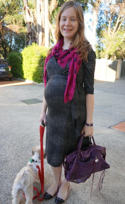 alexander mcqueen scarf soon maternity grey print wrap dress third triemster