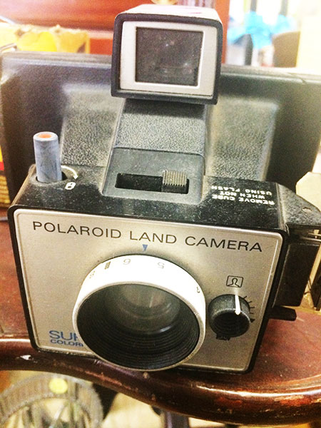 vintage camera, vintage Polaroid camera, Polaroid land camera