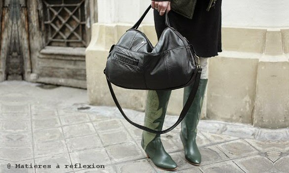 Cabas en cuir vintage Matières a reflexion
