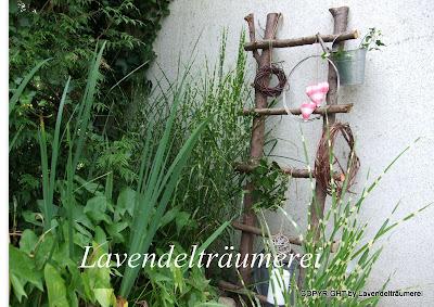 Lavendelträumerei: Holzdeko für den Garten