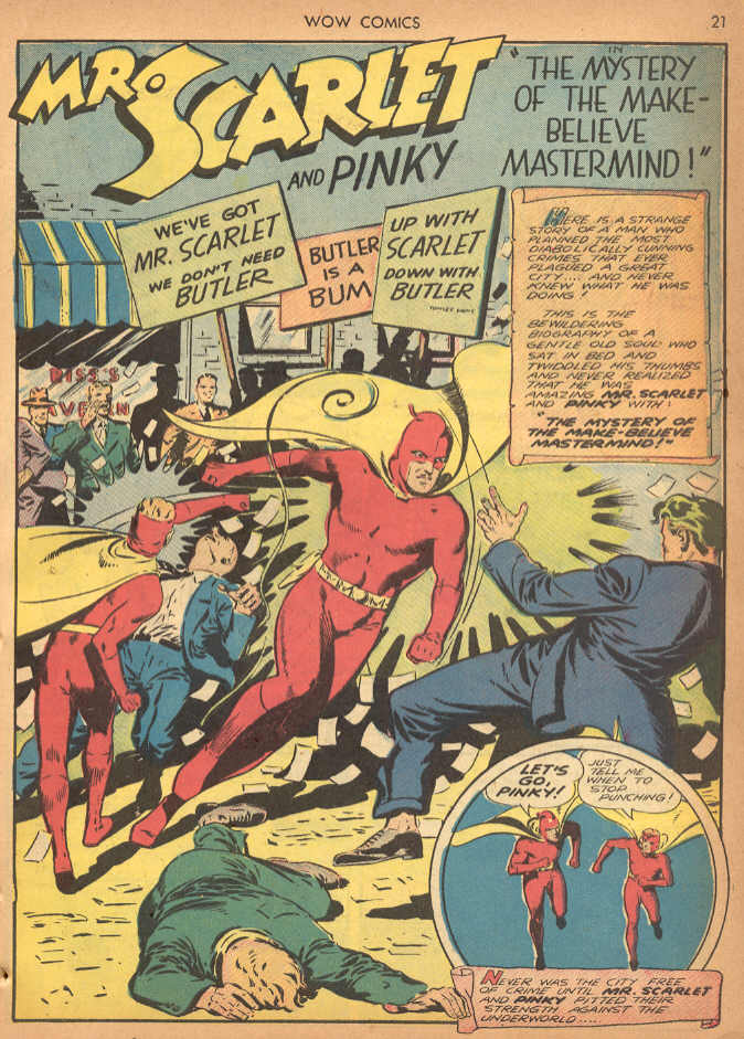 Four-Color Shadows: Mister Scarlet and Pinky--Wow Comics--