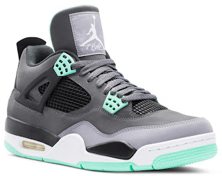 : Air Jordan 4 Retro Dark Grey/Green Glow