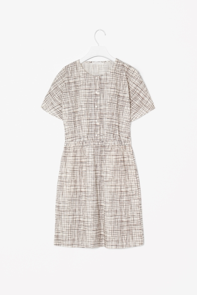 painted check dress
