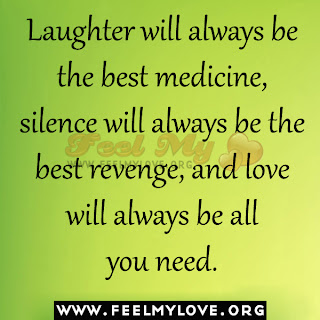 Laughter will always be the best medicine