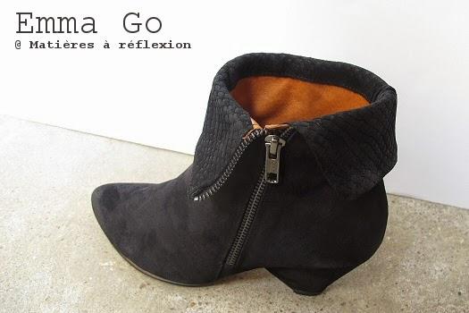 Low boots daim noir Emma Go